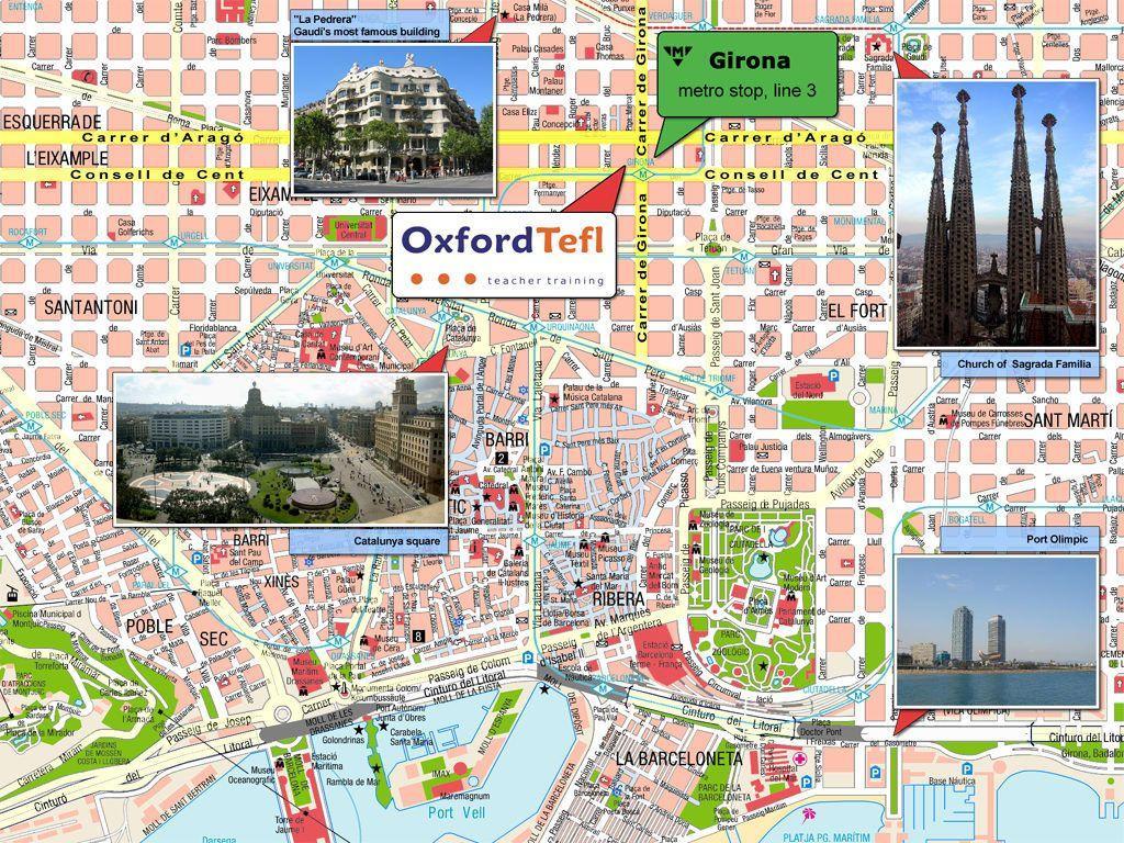 City Sightseeing I Barcelona Kort Kort Over Byen Sightseeing I
