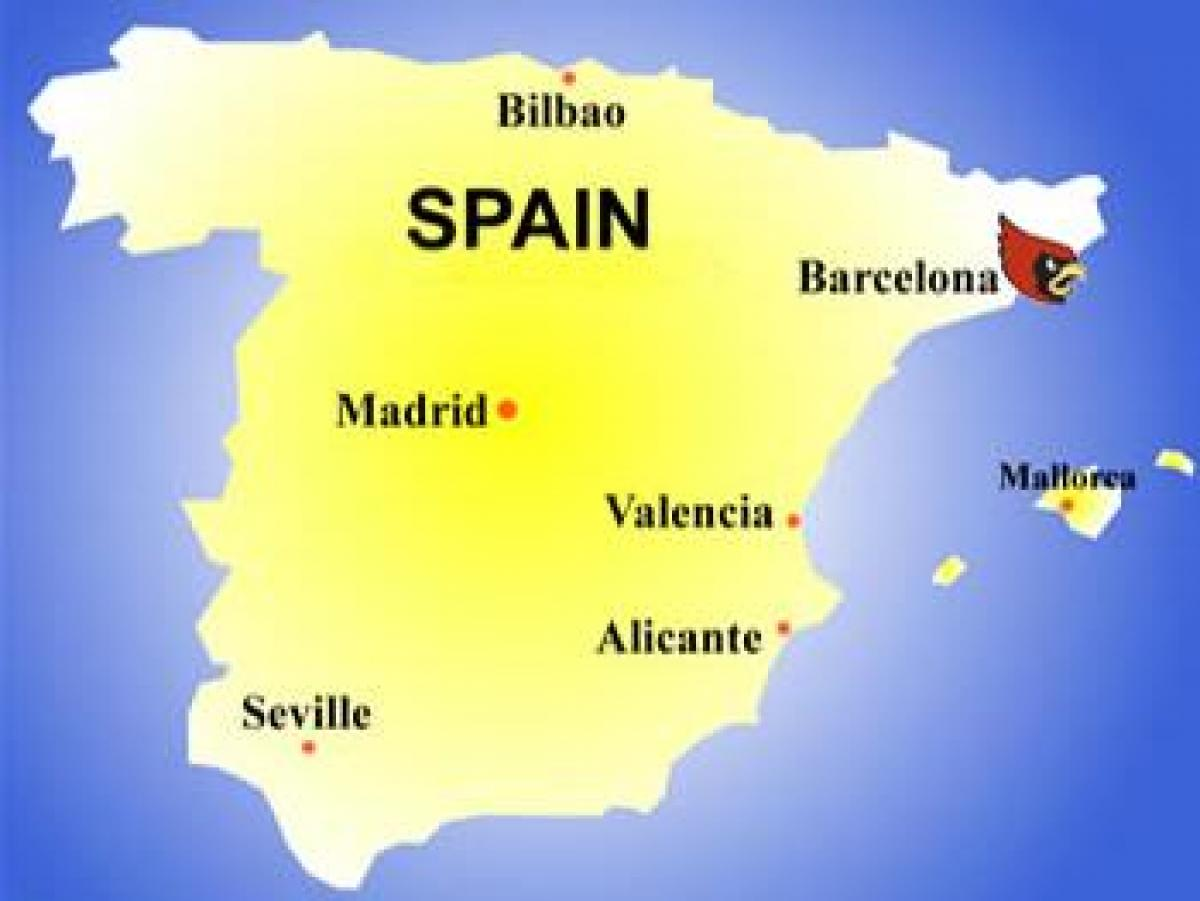 Barcelona Land Kort Kort Over Barcelona Land Catalonien Spanien